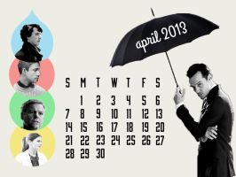 Sherlock April 2013 Calendar by flamingotown