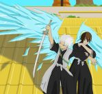 Commission: Hitsugaya Protects Hinamori by Soldiers-of-Legacy