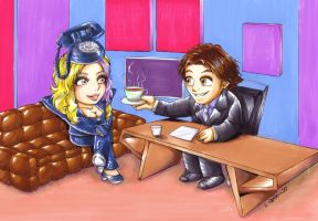 2010 :: Jonathan Ross and Lady Gaga by PinkAppleJam