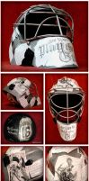 Tribute to Goalies- Completed Mask by GoaliGrlTilDeath