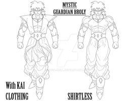 Mystic Broly concepts by ruga-rell