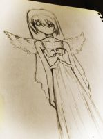 Taiga angel sketch by antegeo