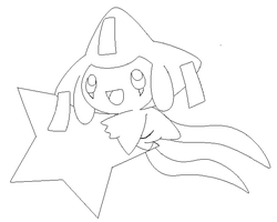 jirachi lineart1 by michy123