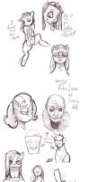 Sketchdump of Ponies by kvernikovskiy