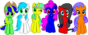Original-My Mane 6 by Barry-Rose
