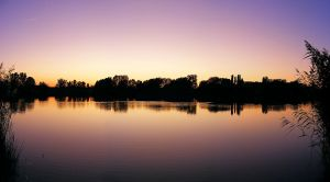 Panorama Sunset on Lake Salt by SylverRaptor