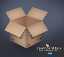 Cardboard Box PSD by atifarshad
