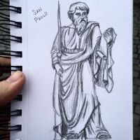 St. Paul Statue - Quicksketch by littlewaysoul