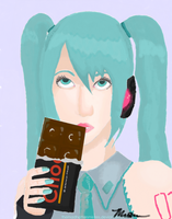 Miku Real Portrait by TheMadHattersMistres