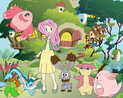 Fluttershy's Pokemon Team