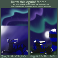 Draw this again meme! by VestraSaur