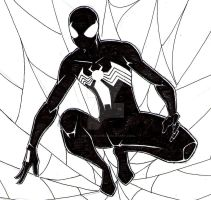 Black Costume Spider-Man by Amaro-House