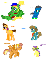 Themed adoptables 35-40 (CLOSED) by BronyBase