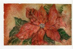 ~Poinsettia~Happy Christmas Eve by Jillybean345