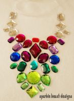 Berry Tone Rhinestone Necklace by Natalie526