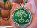 Chainmail Celtic Tree Pendant by AngelLeo