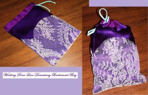 Wedding Dress Lace Bag by pollywriggle