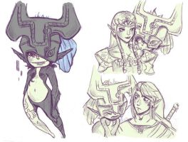 Midna and Co by Foxtail-89