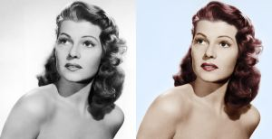 Rita Hayworth - before after by B-D-I
