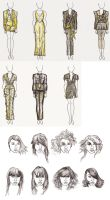 Character Roughs by Cique