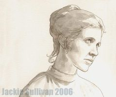 Leia, uncolored by jackieocean