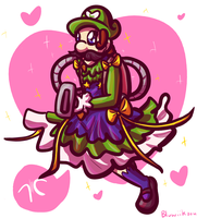 Magical Girl Luigi by Bluwiikoon