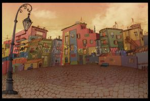 CAMINITO, LA BOCA IV by Juddy-Wood