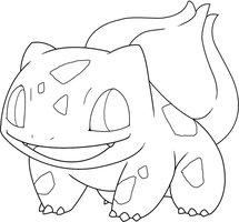 Free Bulbasaur Template by BehindClosedEyes00