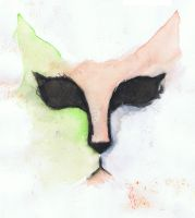 Watercolour cat by trigs94