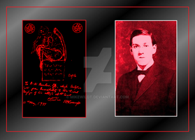 H. P. Lovecraft author of horror and fantasy by Mikewildt