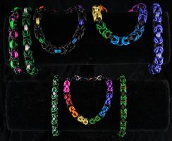 FC backstock - Byzantine bracelets by Ichi-Black