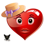 Red heart in hat icon romantic by Lyotta