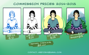 Commission Prices 2014-2015 by alexyoshida