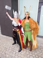 MCM Expo Oct 2014 174 - Thor, Loki by cosmicnut