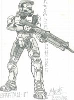 Master Chief + shotgun by CrashyBandicoot