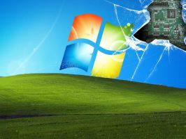 Windows XP and 7 Broken Screen by cjsoosexy