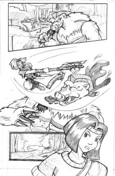 WIP: Page 1 pencils by TonberryKingIV