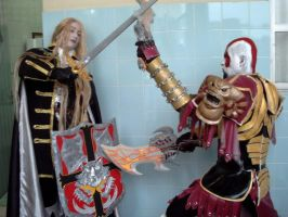 alucard vs kratos by casalcosplay