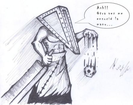 Pyramid Head Funny by dragonflyluis