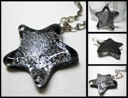 Silver Glitter Star Pendant by ExperienceDesigns