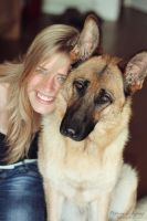 sister and our dog by electrogrunge