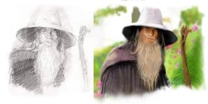 gandalf draw and paint by ahmetbroge