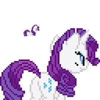 Rarity back sprite by fanofetcetera