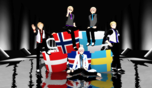 The Nordics in Suit by katnel88