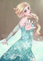 Elsa: The Snow Queen by JauntyEyes