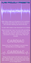 cardiac text effect tutorial by XLR8gfx