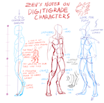 Notes on Digitigrade Characters by Zyraxus