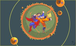 Superman Vs  Goku by BTpictures