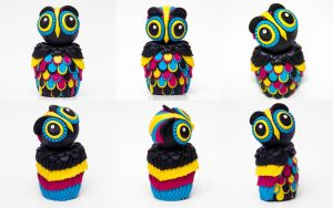 OWL WITH AN ATTITUDE collection - The CMYK sister by julietteEscobar