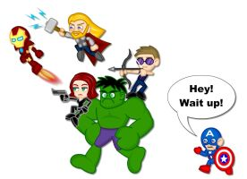 Chibi Avengers by LegendaryFrog